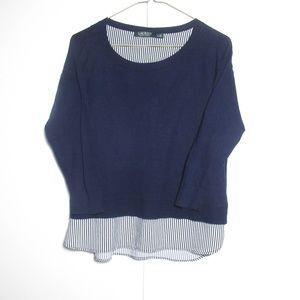 Lauren Ralph Lauren Mock Faux Dress Shirt Sweater